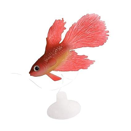 Peces artificiales - TOOGOO(R)Ornamento de peces artificiales de simulacion de ventosa de