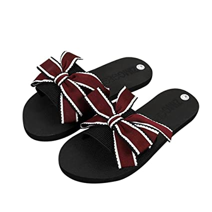 a1b78a5ce0e4 Gotd Women Sandals Big Bowknot Flip Flop Waterproof Platform Wedge Heels  Anti-Slip Slide Platform