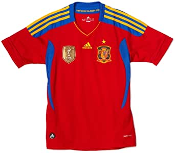 Spain Home Youth Jersey Red, Large
