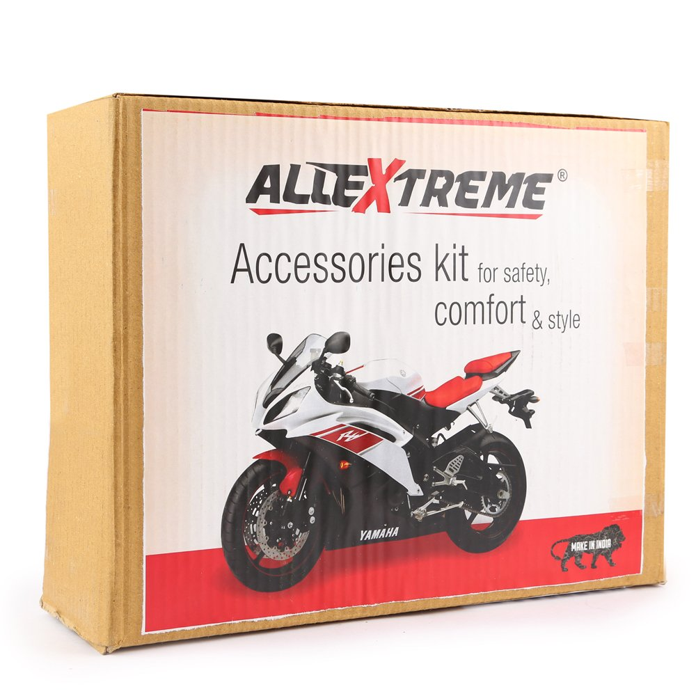 Allextreme 7 In 1 Combo Accessories Kit For Honda Activa 4g Element Speaker Wiring Leatherette Seat Cover Handle Bar Grip Helmet Baggage Holder Buzzer
