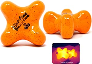 Sublime (Citrus)(Single) Synergy Stone - Contoured Hot Stone Massage Tool - Relaxing and Therapeutic for Neck, Back, Legs, Feet - Ultra-Smooth for Massage on Skin with Oil or Over Clothes