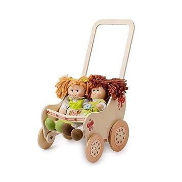 Amazon.es: Dida - Pequeña cochecito para muñecas de madera - Decoración: lacitos: Juguetes y juegos