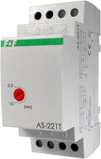 Electrónico Escaleras Luz Tiempo Relé Tiempo con apagado Función de advertencia Tiempo Interruptor Relé Escalera Automática AS de 221T F & F 2136: Amazon.es: Iluminación