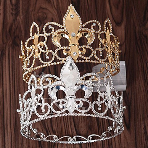 Quantity 1x king_ Crown Tiara Party Wedding Headband Women Bridal Princess Birthday Girl Gift _metal_men_ queen 's_ Hair Ornaments Crown Tiara Party Wedding Headband Women Bridal Princess Birthday Gir - Crown Mens Bands