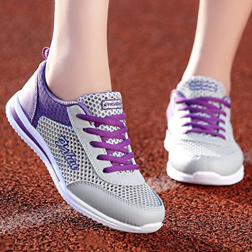 Course Violet Athletic Hommes Respirante Sneakers Chaussures Mesh Eagsouni Outdoor Femme Sport De Pq8Hf