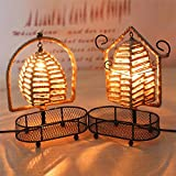 Zehui Multi-functional Modern Table Lamp Twine Storage Rack Basket Lamp Home Furnishing Decoration Semicircle