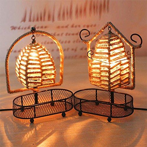 Zehui Multi-functional Modern Table Lamp Twine Storage Rack Basket Lamp Home Furnishing Decoration Semicircle