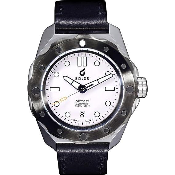 boldr Odyssey Reloj de buceo automático | blanco Storm: Amazon.es: Relojes