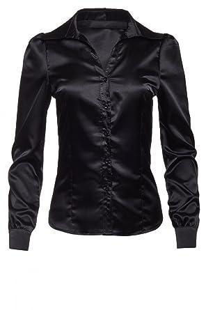 97c635e3b5642e Laeticia Dreams Damen Bluse Langarm S M L XL XXL: Amazon.de: Bekleidung
