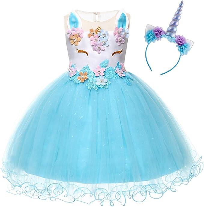 Disfraz Halloween Princesa Bebé únicornio Infantil Niña Vestido ...