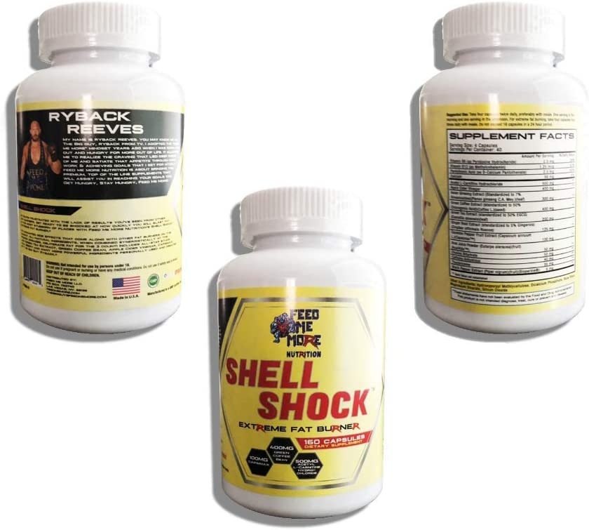 Shell Shock Extreme Fat Burner 1 All Natural Fat Burner with Apple Cider Vinegar, Capsimax, Green Tea, Green Coffee Bean, L-Carnitine, A a Berry 30 Servings