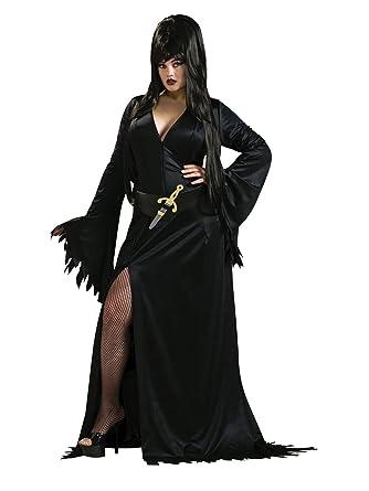 Elvira vampirin Halloween para mujer Disfraz licencia oficial Teuflisch Negro: Amazon.es: Juguetes y juegos