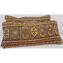 Set of 2 Novelty Throw Pillow Cover, Western Pillow Case, Sofa Kilim Pillow Sham