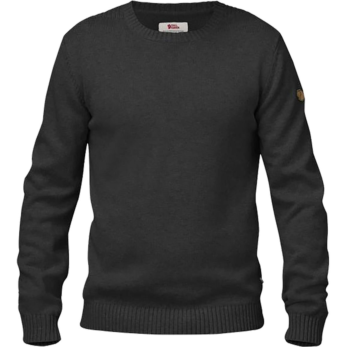 Fjallraven Men's Ovik Flat-Knitted Crew Neck Sweater - Medium - Dark Grey