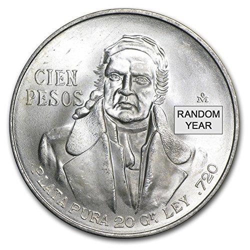 1977 MX - 1979 Mexico Silver 100 Pesos AU/BU (ASW .643) Silver Brilliant Uncirculated
