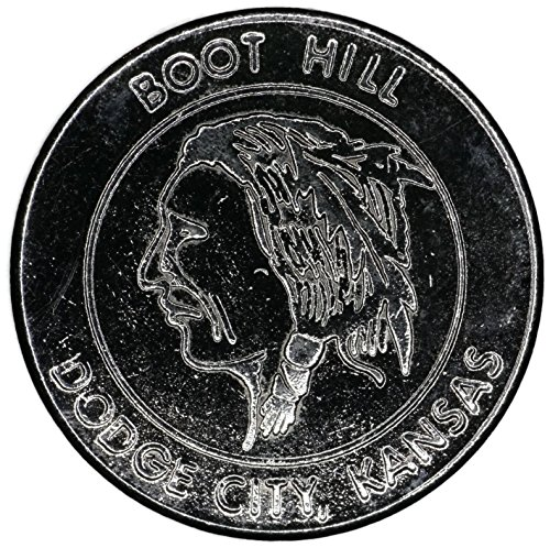1990 Boot Hill & Front Street Casino Gaming Token None Very Good