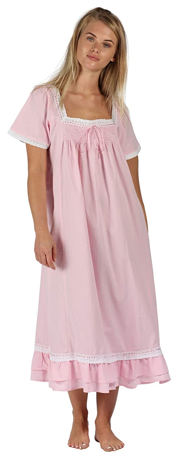 The 1 for U 100/% Cotton Short Sleeve Nightgown Evelyn