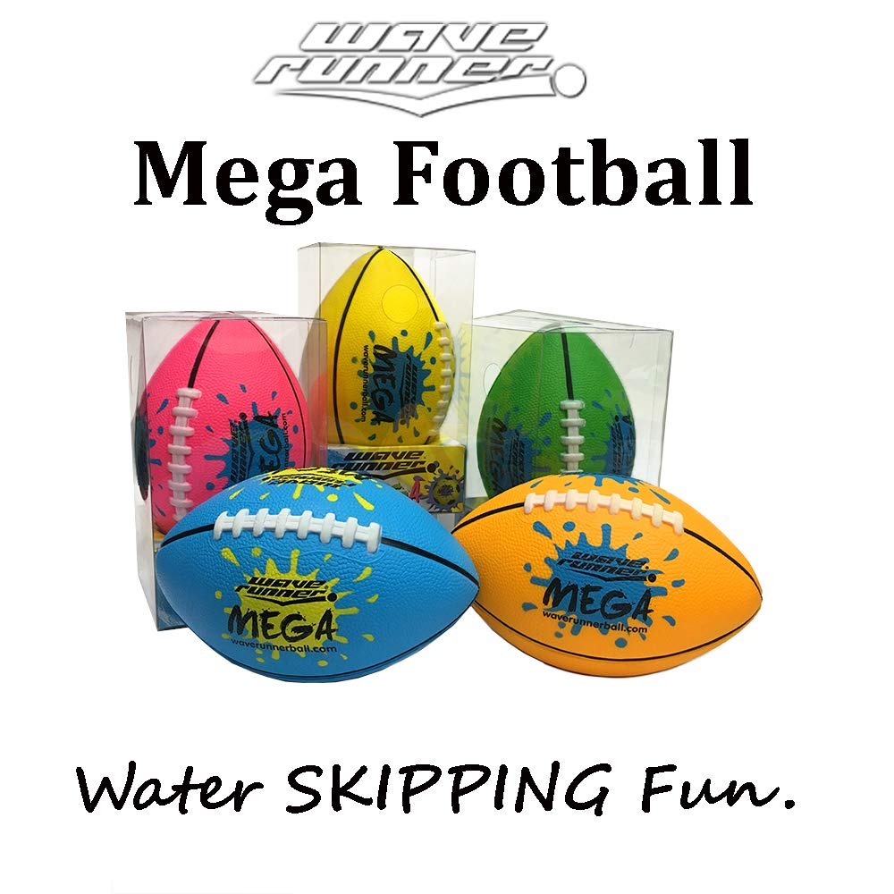 Wave Runner Wholesale Water Toys Footballs Mini Mega Football Soft Foam Perfect for Pool and Beach. Great for Toy, Kids and Games Pink Orange Green Yellow Bulk Price Available Water Toy (4pack) by Wave Runner