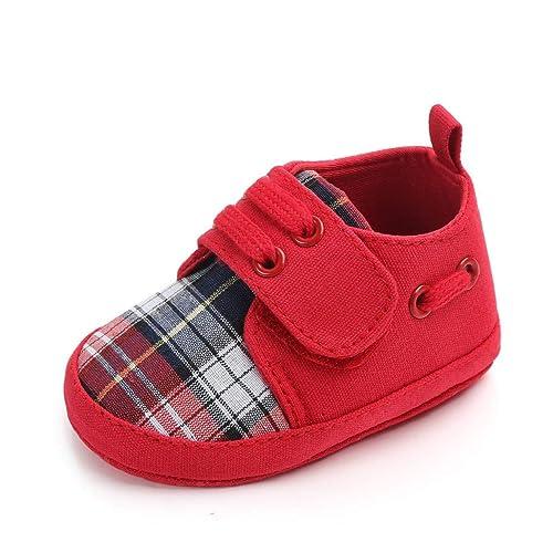Auxma Zapatos de bebé para 0-18 Meses,Zapatos de Lona Suaves del bebé,Primeros Zapatos para Caminar Zapatillas: Amazon.es: Zapatos y complementos