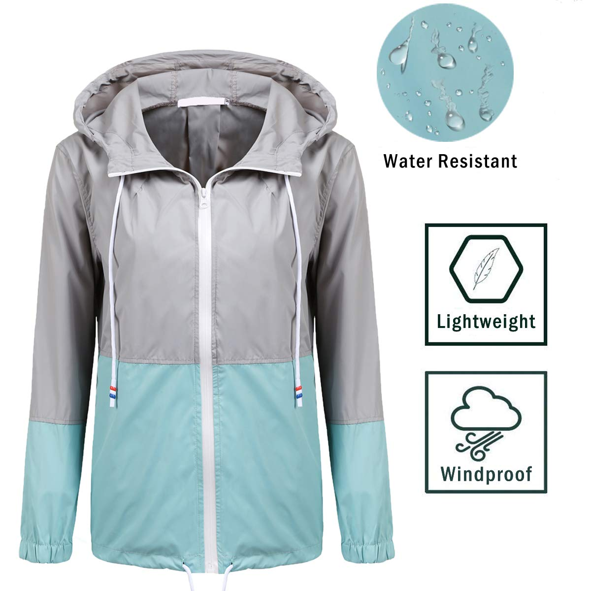 4065c265518 Amazon.com: SoTeer Women's Waterproof Raincoat Outdoor Hooded Rain Jacket  Windbreaker (15 Colors S-XXL): Clothing