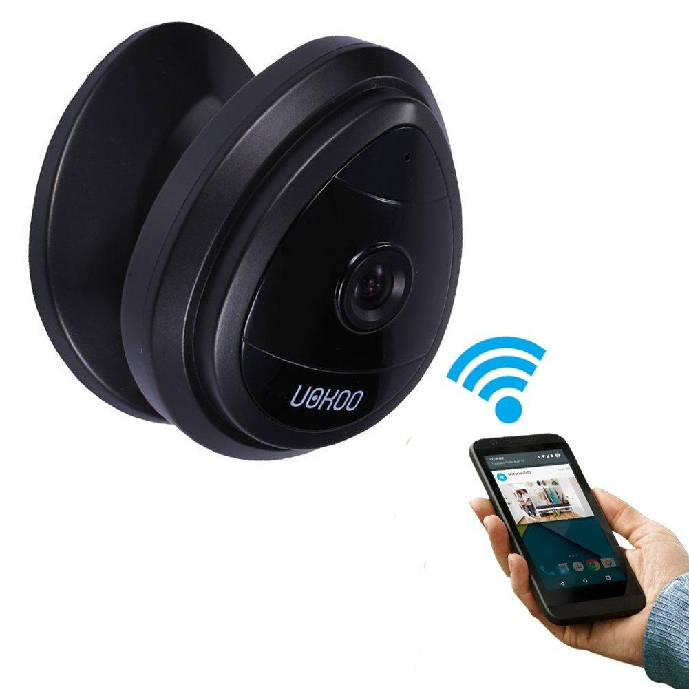 Mini telecamera IP, Uokoo Home WiFi sistema di telecamera di sorveglianza di sicurezza con rilevatore di movimento e allarme e-mail