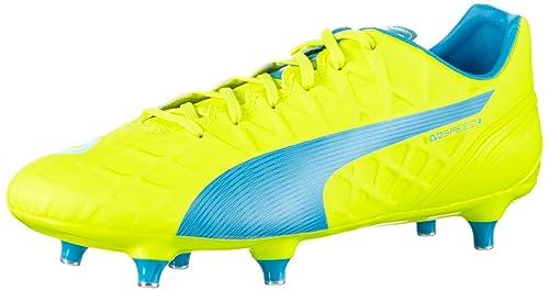 Puma Evospeed 4.4 SG Jaune - Livraison Gratuite avec - Chaussures Football Homme