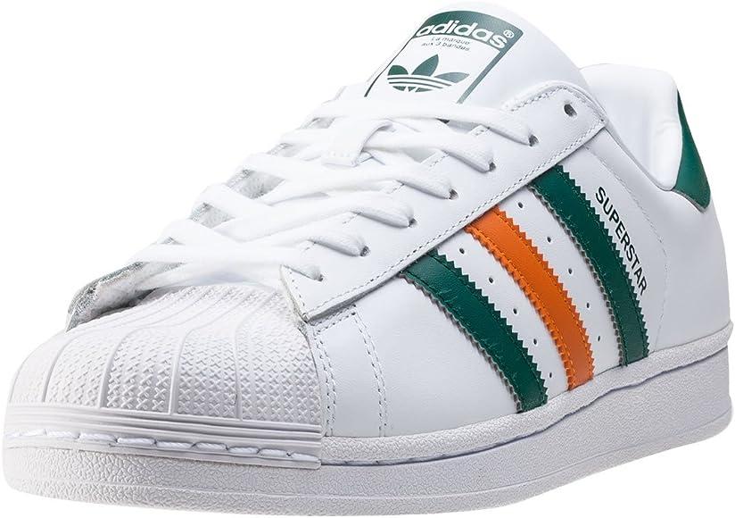 adidas Superstar White Green Orange 48