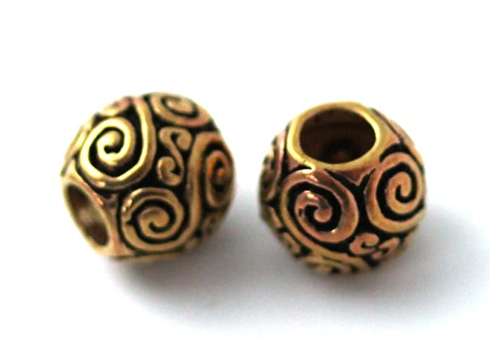Amazon.com: Bronze Norse Viking Celtic Beard Beads Rings, Dwarven Dreadlock Pirate Medieval Hair Beads, Pagan Jewelry: Jewelry