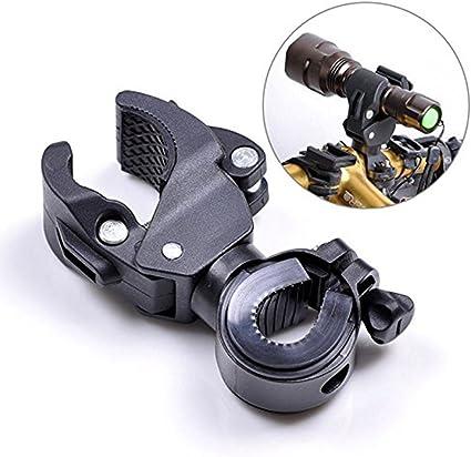 Support de lampe de vélo de clip de lampe de poche pour guidon de vélo de vélos