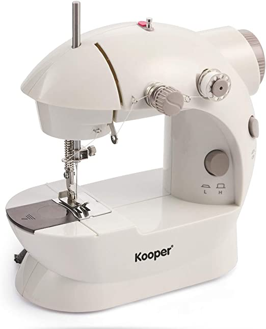 Kooper – Mini máquina de Coser Blanco/Gris Zig Zag 2419071: Amazon ...