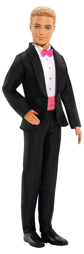 Barbie - Muñeca, Ken con Traje de Novio, Color Negro y Rosa (Mattel BCP31)