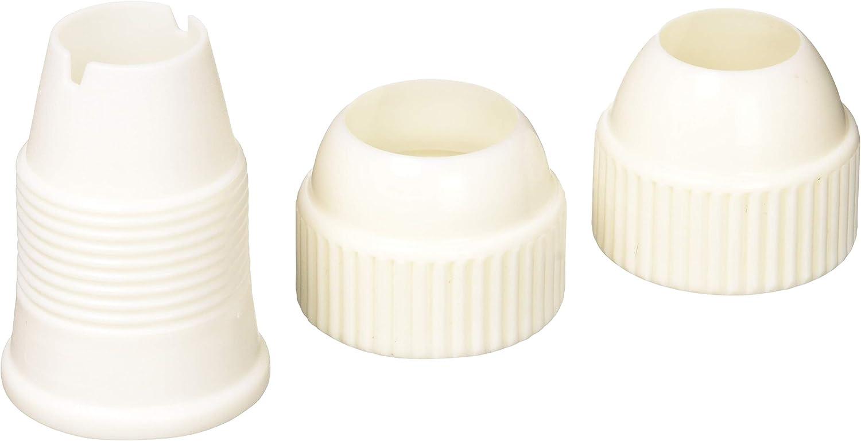 Ateco 3-Piece Medium Plastic Coupler - Fits Medium and Standard Size Decorating Tips