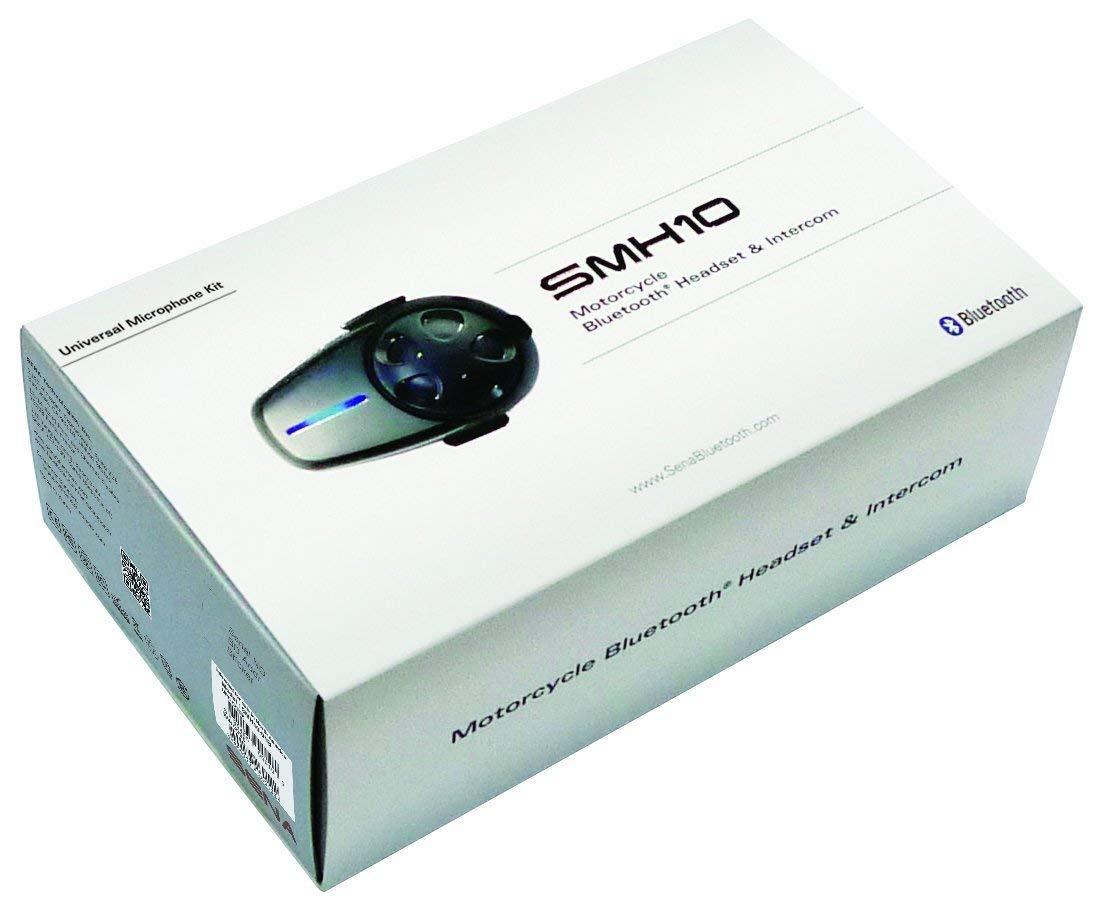 Sena SMH10-11 Motorcycle Bluetooth Headset Intercom with Universal Microphone Kit Single Renewed