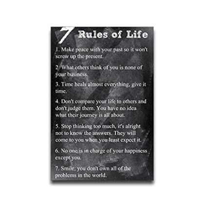Amazon 60 Rules Of Life Blackboard Background Custom Quote Adorable 7 Rules Of Life Quote