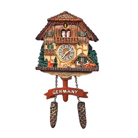 Wedare - Imán 3D para nevera con diseño de reloj de cuco alemán. Souvenir decorativo