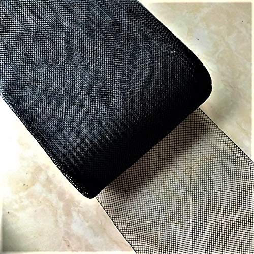 4inch Wide Stiff Polyester Black Horsehair Braid, Selling Per Roll/ 50 Yards Sewing888