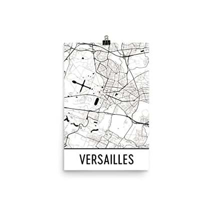 Map Of France Versailles.Amazon Com Modern Map Art Versailles Print Versailles Art