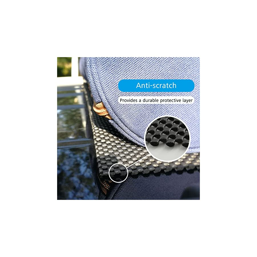Car Roof Mat 2 Pack Cargo Pad Protective Mat Rack Pad (43''x36'') Cushioned Layer Non slip Heavy Duty Elastic Soft for Car SUV Truck Carrying Cargo Bags Bikes Paddle by Depp's