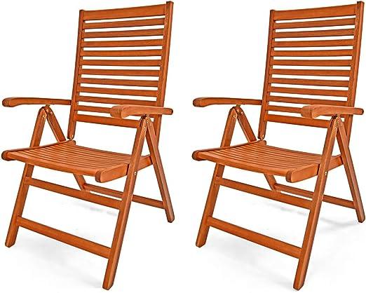 de fauteuil pliable Chaises 2x Unikko jardin bois eucalyptus SUpzGMVq