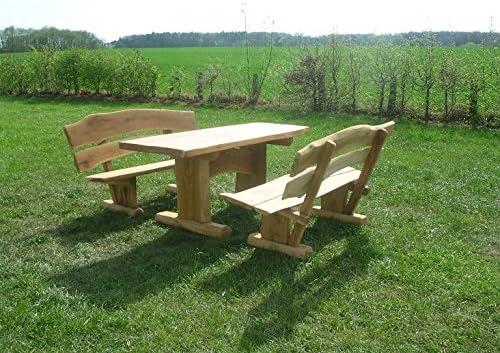 Sitzgarnitur KJR Holzmanufaktur Rustikale Gartenm/öbel Sitzgruppe Eiche