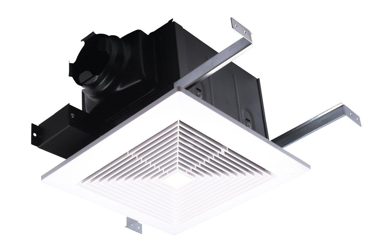 AirZone Fans PA1100V Premium Ultra Quiet Exhaust Ventilation Fan, AC Motor, 1.3 Sones, 1100 CFM, 4'' Duct