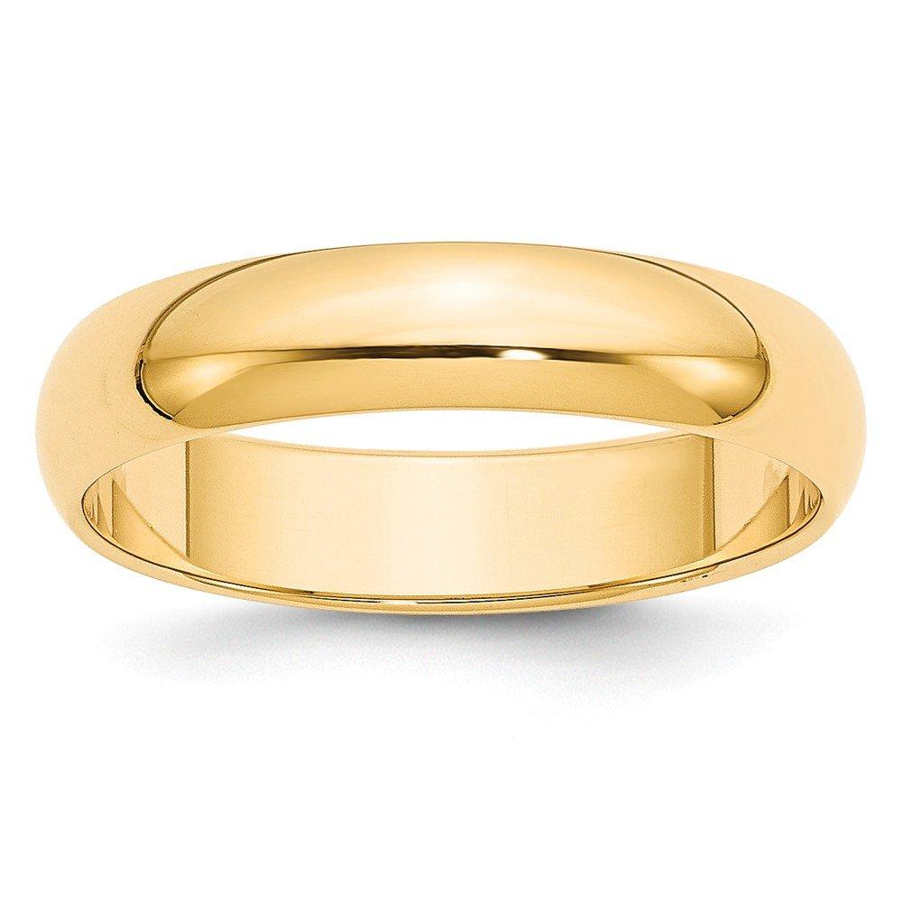 Jewelry Best Seller 14k 5mm Half-Round Wedding Band