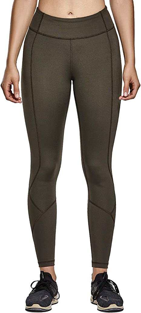 CRZ YOGA Non See-Through Mid Rise Athletic Compression Leggings Women 7/8 Hugged Feeling Workout Running Tights-25 Inches