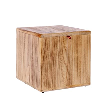 Fabulous Amazon Com Stool Solid Wood Square Storage Bench Creative Creativecarmelina Interior Chair Design Creativecarmelinacom