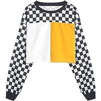bd11b9229b6c7 Women s Cute Crop Top Teen Girls Cropped Hoodie Pineapple Print Sweater  Jacket Sweatshirt Jumper Pullover Tops