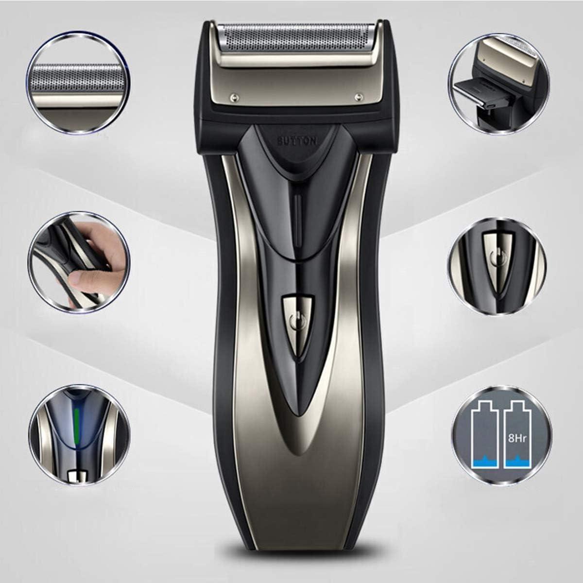 Afeitadora electrica hombre Recortadora de barba Afeitado en seco ...