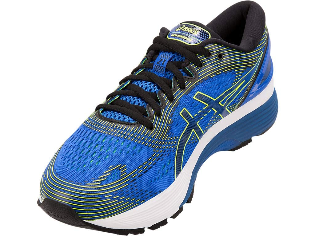 ASICS Men's Gel-Nimbus 21 Running Shoes, 6.5M, Illusion Blue/Black by ASICS (Image #2)