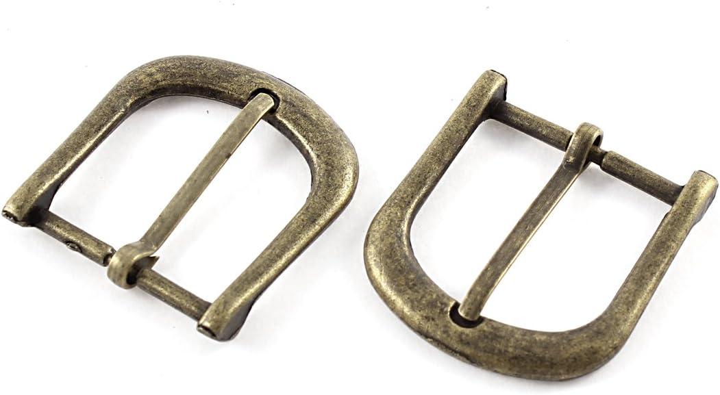 sourcingmap/® 2pcs 40mmx38mm tono bronce estilo retro /único diente de herradura hebilla de cintur/ón