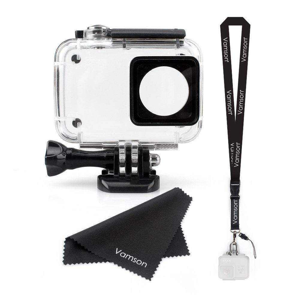 vamson防水ハウジングケースXiaomi Yi用4 K防水ケースダイビング保護ハウジングシェル45 M Xiaoyi 4 K/Yi 4 K +/Yi Liteカメラアクションカメラ   B07DHDRM5C