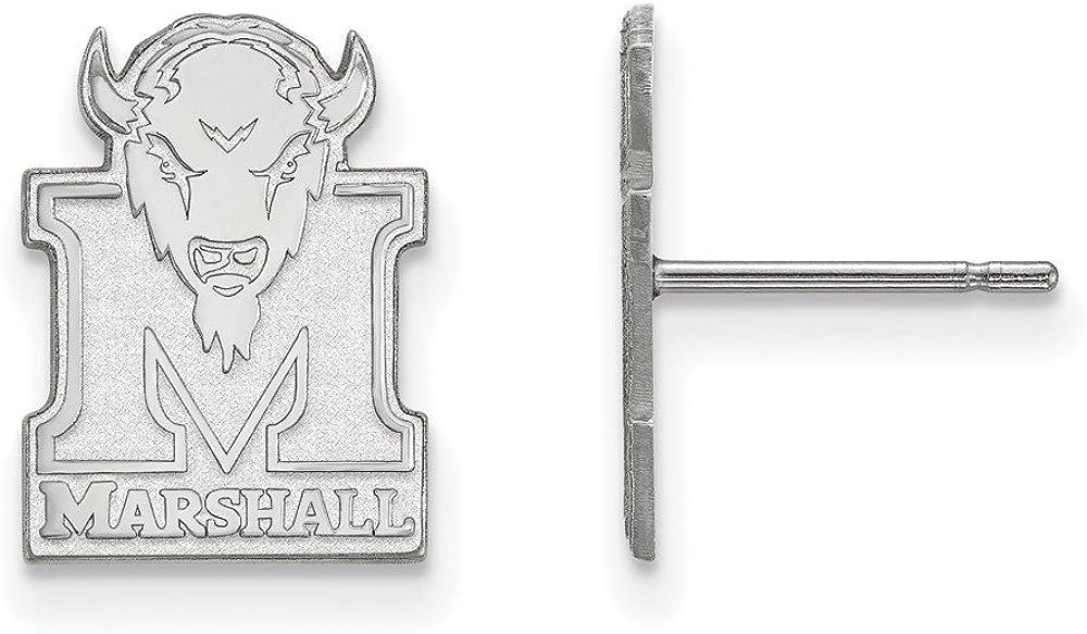 925 Sterling Silver LogoArt Marshall University Small Post Earrings